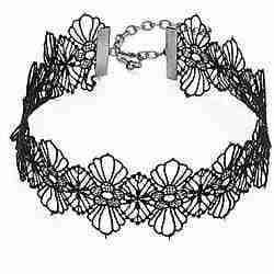 Black lace choker